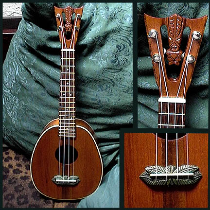 Tiki King custom Mahogany Pineapple Ukulele