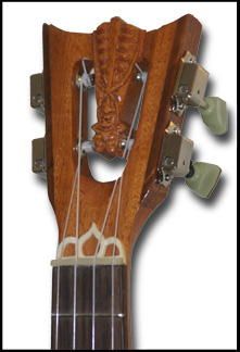 Tenor Ukulele headstock by Tiki King