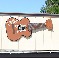 Tiki King's ukuleles of felton